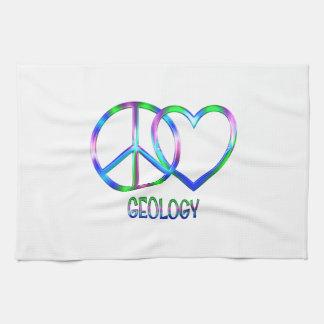 Géologie brillante d'amour de paix serviette éponge