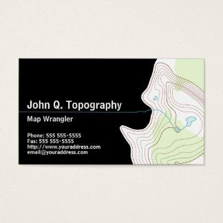 Géologue, carte topographique de cartographe