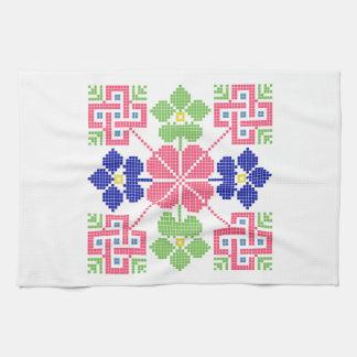 geom ethnique traditionnel de symbole folklorique serviettes éponge