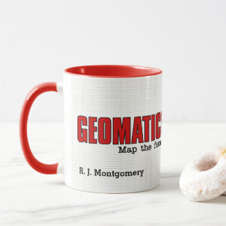 Geomatics drôle machine la carte l'avenir avec le mug