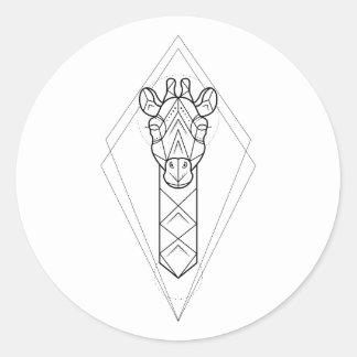 Géométrique - autocollant de girafe