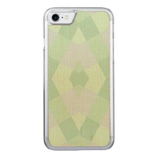 Géométrique aux nuances vertes molles coque carved pour iPhone 7