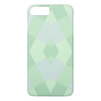 Géométrique aux nuances vertes molles coque iPhone 7 plus
