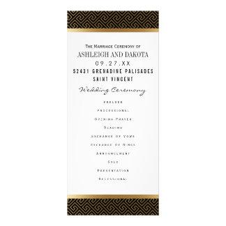 Géométrique d'or formel du programme | de mariage
