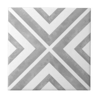 Géométrique gris et blanc carreau