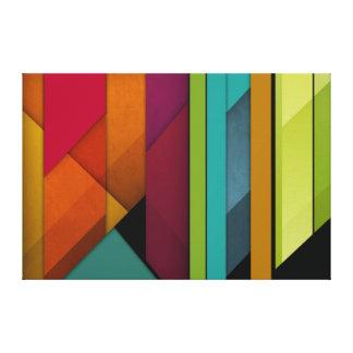 géométrique linéaire de rétro art abstrait coloré toiles