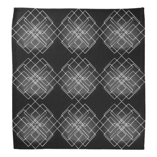 Géométrique noir et blanc bandanas
