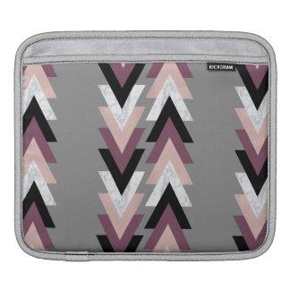 géométrique noir pourpre de marbre blanc de poches pour iPad