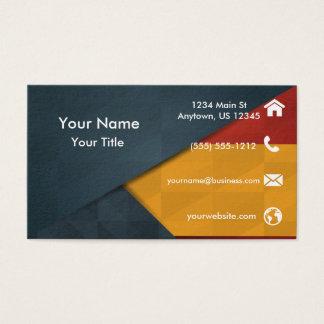 Géométrique orange noir jaune cartes de visite