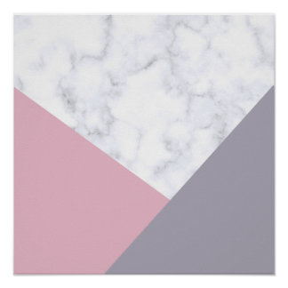 géométrique pourpre de marbre blanc élégant de poster