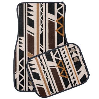 Géométrique tribal aztèque tapis de voiture