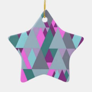 Geomix bleu ornement étoile en céramique