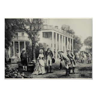George et Martha, invitation de Mount Vernon/carte