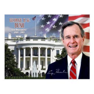 George H.W. Bush - quarante-et-unième président Carte Postale