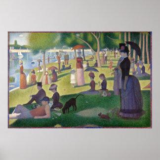 GEORGE SEURAT - Un 1884 dimanche après-midi Poster