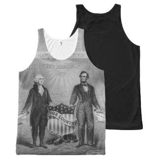 George Washington Abraham Lincoln Etats-Unis Bannières