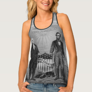 George Washington Abraham Lincoln Etats-Unis Débardeur