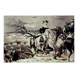 George Washington croisant le Delaware Poster