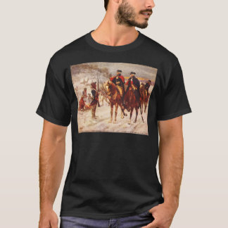 George Washington et Lafayette à la forge de T-shirt