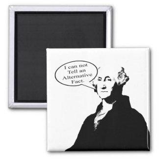 George Washington ne peut pas dire un fait Magnet Carré