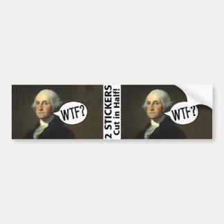 George Washington WTF - 2 autocollants