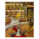 Georges Seurat - Der Zirkus - affiche de cirque