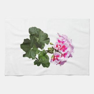 Géranium rouge et rose serviettes éponge
