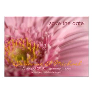 Gerbera de Rosa • Faites gagner la date Karte Invitations Personnalisées