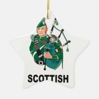 gerçure d'écossais ornement étoile en céramique