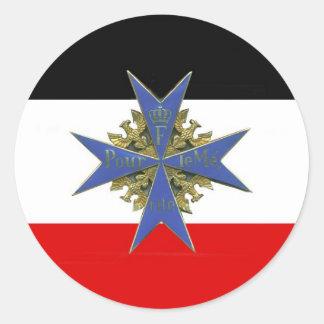 German Pour Le Merit Medal Autocollant Rond