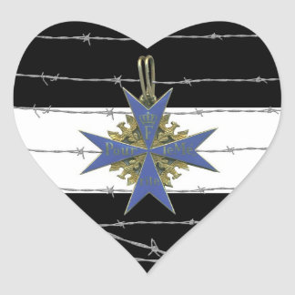German Pour Le Merit Medal Sticker Cœur