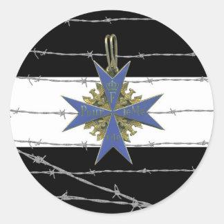 German Pour Le Merit Medal Sticker Rond