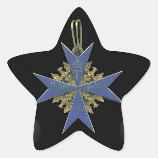 German Pour Le Merit Sticker Étoile