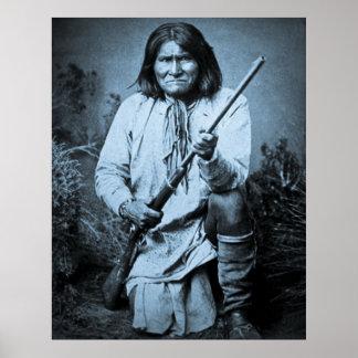 Geronimo avec le fusil 1886 affiches