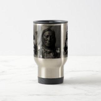 Geronimo, ours creux de klaxon, et séance Taureau Mug De Voyage En Acier Inoxydable