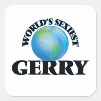 Gerry le plus sexy du monde autocollants carrés
