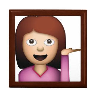 Geste de main de femme - Emoji Grande Boîte À Bijoux Carrée
