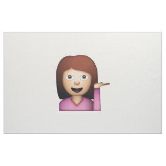 Geste de main de femme - Emoji Tissu