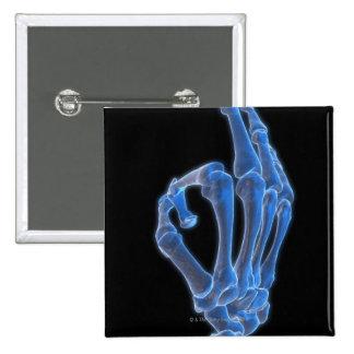 Geste de main squelettique pin's