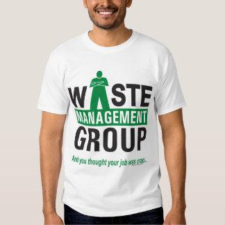 Gestion des déchets sur le blanc t-shirts
