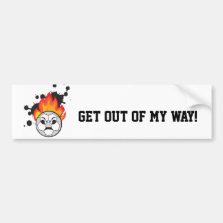 Get out of my way soccer ball autocollant pour voiture