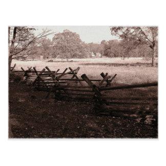Gettysburg - carte postale #1 de champ de bataille