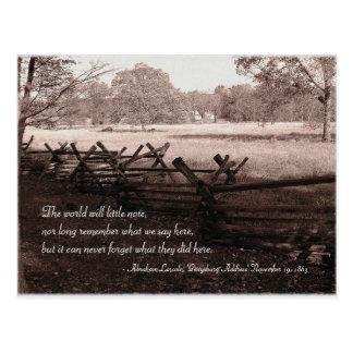 Gettysburg - carte postale #2 de champ de bataille