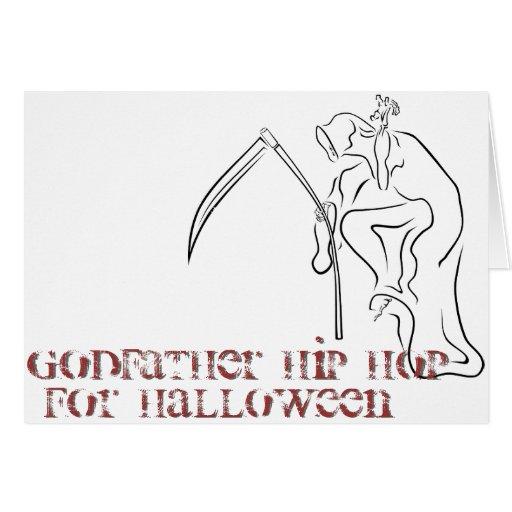 Gevatter/parrain/HIP HOP pour Halloween Cartes De Vœux