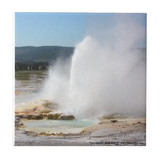 Geyser de Yellowstone Petit Carreau Carré