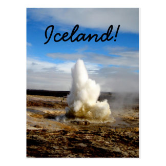 Geyser islandais cartes postales