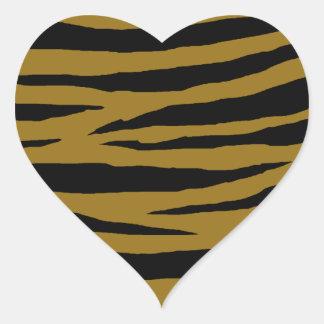GH terne de tigre Sticker Cœur