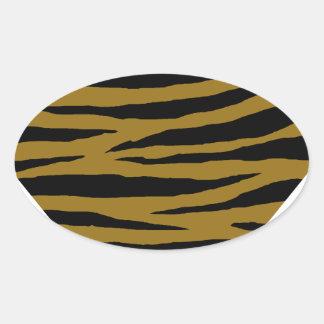 GH terne de tigre Sticker Ovale