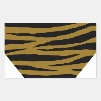 GH terne de tigre Sticker Rectangulaire