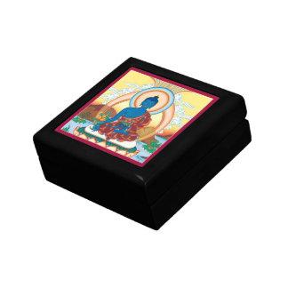 GIFTBOX avec la TUILE - médecine Bouddha Petite Boîte À Bijoux Carrée